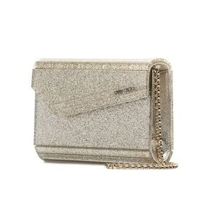 Jimmy Choo Metallic Gold Envelope Clutch Purse